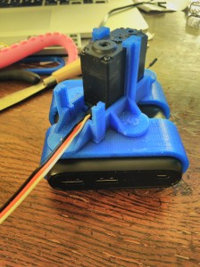 Battery holder, base and servo motor